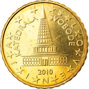 [#830214] Slovénie, 10 Euro Cent, 2010, SPL, Laiton, KM:71