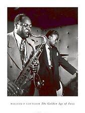 Coleman Hawkins & Miles Davis, by William Gottlieb, Vintage Jazz Poster Print