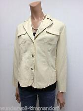 MARCCAIN MARC CAIN Blazer Jacke Gr.40 N4 Jacket Baumwolle Leinen Beige