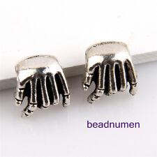 20pcs Zinc alloy hands charms big hole beads(5mm) 1B38