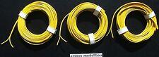 (1m = 0,33 €) 15 m de cable, zweiadrig, zwillingslitze, amarillo, corte transversal 2x 0,14 mm²