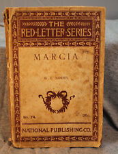The Red Letter Series MARCIA by W.E.NORRIS antique rare old paperback edition
