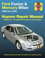 Ford Fusion Mercury Milan Haynes Repair Manual SERVICE SHOP BOOK