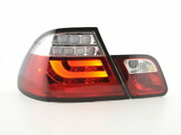 BMW E46 CLEAR LED LIGHTBAR REAR LIGHTS TAIL LAMPS PREFACELIFT COUPE 1999-3/2003