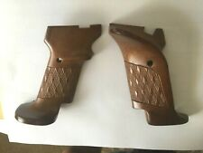 High Standard Grips 22 Cal Military Trophy Etc Target Checkered Walnut New