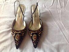 Ladies Brown velvet Shoes