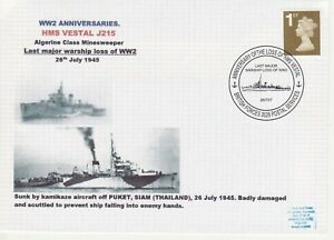 GB Stamps Navy Souvenir Cover WWII Anniversaries HMS Vestal  Minesweeper 2007