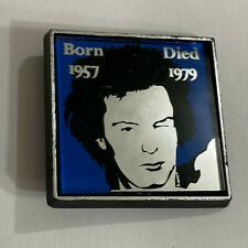 The Sex Pistols Sid Vicious Vintage 1980's Mirror Pinback Button