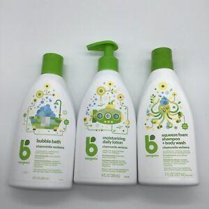 Babyganics x3 Chamomile Verbena Bubble Bath, Lotion, Shampoo & Body Wash