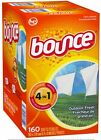 Bounce Dryer Sheets Outdoor Fresh 2 Pack X 160 ,new!