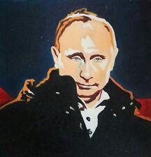 VLADIMIR PUTIN Portrait oil on canvas Öl auf Leinwand Gemälde ПУТИН ВВП