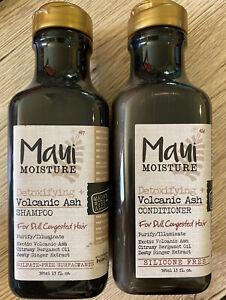 Maui Moisture Shampoo & Conditioner 13 Oz Volcanic Ash Detoxifying Dull Hair Set