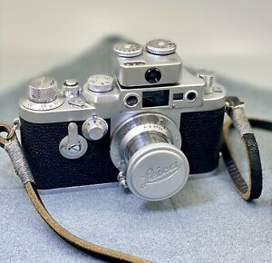 Leica iiig 3G LTM Elmar 5cm 3.5 Cannon Ep 35mm   2.8lens viewfinder light meter