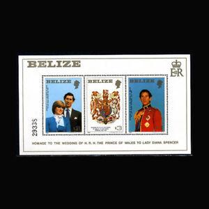 Belize, Sc #554, MNH, 1981, S/S Royalty, Prince Charles & Diana, A350RDD-B