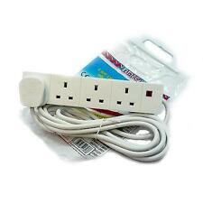 Omega 21343 13 Amp 4 Way Extension Lead 3 Metre Home/Office Standards Compliant