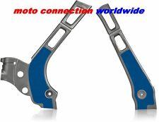 NEW YAMAHA YZ125 YZ250 2007 SILVER / BLUE ACERBIS X-GRIP FRAME GUARDS PROTECTORS