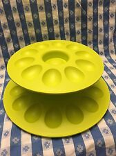 tupperware-deviled egg serving set with snack cup and seal