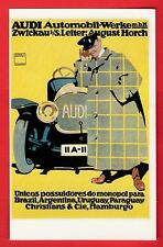 Car Postcard ~ Audi - 1912 German Hohlwein Poster: S. American Agents - Dalkeith