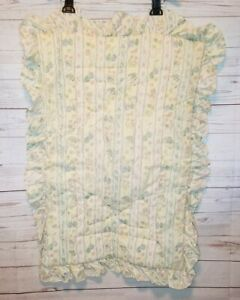 Vintage Lambs & Ivy retro ruffle edge crib comforter Cottagecore Nursery