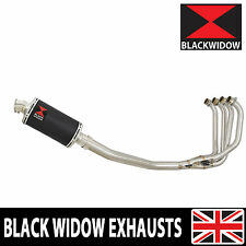 KAWASAKI ZRX 1200 Full Exhaust System Oval Black Stainless Silencer BN23V