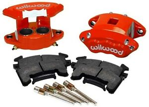 "WILWOOD D154 BRAKE CALIPER & HIGH PERFORMANCE E PAD SET,FRONT,2 PISTON,1.04"",RED"