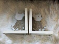 Wooden Teddy Bear Bookends