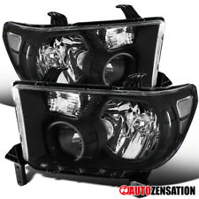For 2007-2013 Toyota Tundra 2008-2014 Sequoia Black Clear Headlights Lamps Pair