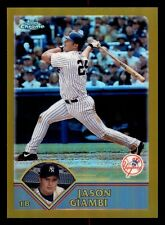 Jason Giambi 2003 Topps Chrome Gold Refractor #'ed 238/449 New York Yankees