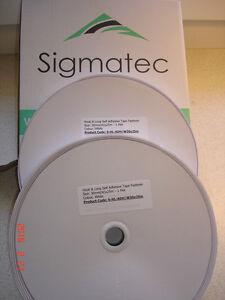 WHITE 30mm x 25m Pair HOOK and LOOP Self Adhesive Fastener Tape