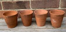 4 Small Pots 10 x 10cm Vintage Hand Thrown Old Clay Terracotta Plant Pots