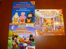 Lot of 3 Halloween Flap Books Mickey Mouse/Little Critter/Halloween Treat?