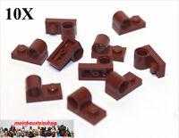 10X Lego® Technic 11458 modifizierte Platten 1X2 mit Achsloch Rotbraun