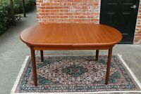 Mid Century Danish Teak Butterfly Leaf Dining Table