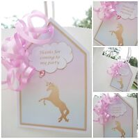 5 x Personalised thank you UNICORN Party Bag tags PARTY BAG LABELS GIFT TAGS
