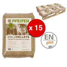 Pellet PFEIFER HOLZPELLETS Bancali da 15 Sacchi Abete 15 Kg al Pezzo Certificato