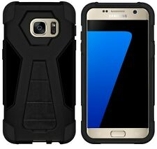 Amzer Nero Dual Layer HYBRID SUPPORTO CASE COVER PER SAMSUNG GALAXY S7 sm-g930