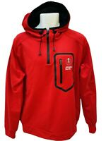 New NIKE Sportswear NSW Vintage ATHLETICS NORTH Half Zipped Hoodie Red M