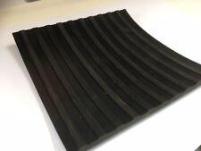 Flat Ribbed Rubber Matting 6mm thick anti slip 150mm x 150mm