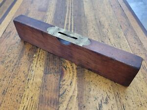 "ANTIQUE Tools LEVEL • RARE STANLEY 12"" CHERRY WOOD Vintage Woodworking Tools ☆US"