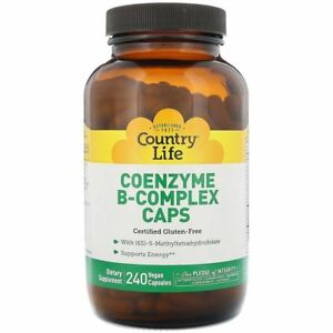 Country Life Coenzyme B-Complex Caps 240 Vegan Capsules