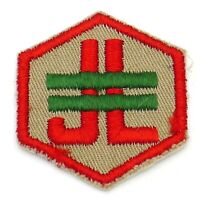 Vintage Junior Leader Trained Boy Scout Patch Tan Twill BSA