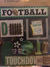 Green FOOTBALL Sport - K & Company Life's Little Occasions Scrapbooking Sticker