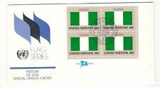 UN 1982 Flags -- Nigeria -- FDC -- blk/4 - charity sale