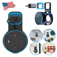 Home Outlet Wall Mount Hanger Holder Stand Bracket + Cable For Amazon Echo Dot 2
