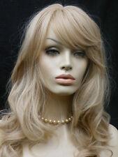 Perücke  blond hellblond mittelblond Langhaar gelockt wie Echthaar platinblond