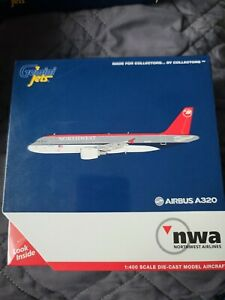 Northwest Airlines Airbus A320 N365NW Gemini Jets GJNWA371 Scale 1:400 IN STOCK