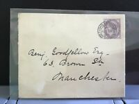 U.K 1893 Manchester stamp cover R31223