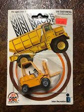 Mini Macks Forklift 2959 Die-Cast Metal 1976 Scale Models Moving Parts