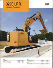 "Caterpillar ""320E LRR"" Tracked Hydraulic Excavator Brochure Leaflet"