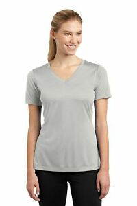 Womens SPORT TEK, Ladies Dri-fit V-neck Tee, Yoga, Workout, Running S-4X T-shirt